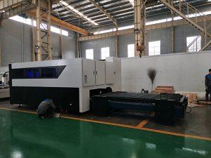 CNC 500W الألياف كتر حفارة ورقة متعددة الوظائف والأنابيب المعدنية آلة القطع بالليزر الألياف