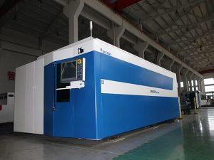 التصنيع باستخدام الحاسب الآلي الألياف الليزر آلة قطع 500W 700W 1000W 2000W 3000W معتدل / الفولاذ / الكربون الصلب