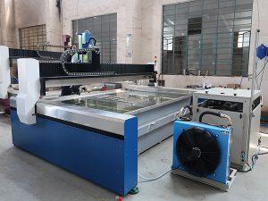 آلة قطع المياه النفاثة CNC الصغيرة ، جت المياه ذات الضغط العالي: الرخام والجرانيت والزجاج والسيراميك والمعادن