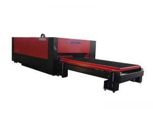 500W-3000W الفولاذ المقاوم للصدأ الصفائح المعدنية / الأنابيب / أنبوب معدني آلة القطع بالليزر