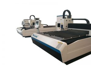 انخفاض استهلاك الألياف آلة القطع بالليزر / الصفائح المعدنية cnc آلة القطع