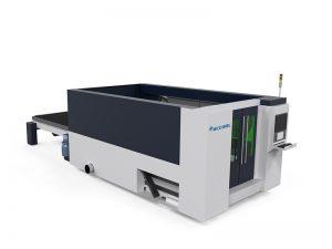 عالية السرعة CNC الألياف ورقة معدنية / الفولاذ المقاوم للصدأ آلة القطع بالليزر